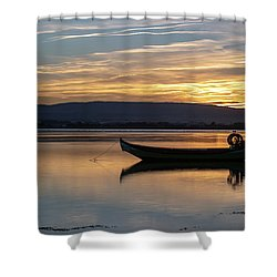 Shower Curtain featuring the photograph A Boat by Bruno Rosa