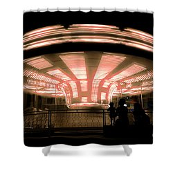 A Carousel By Night Shower Curtain