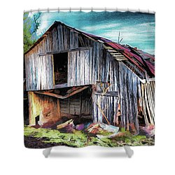 A Classic Vintage Barn In The Blue Ridge Ap Shower Curtain