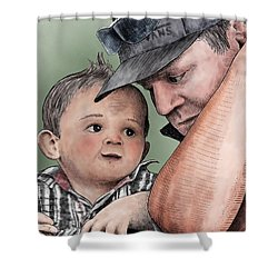 A Conversation With Daddy  Shower Curtain