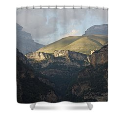 Shower Curtain featuring the photograph A Dash Of Light In The Canyon Anisclo by Stephen Taylor