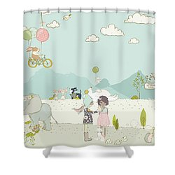 A Day At The Park Shower Curtain