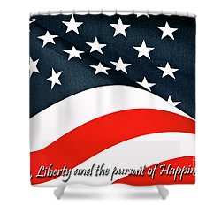 A Declaration Shower Curtain