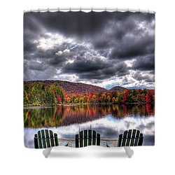 Shower Curtain featuring the photograph A Fall Day On West Lake by David Patterson