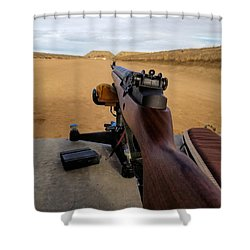 Shower Curtain featuring the photograph A Fine Day At The Range by Jon Burch Photography