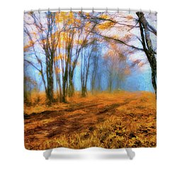 A Foggy Autumn Blue Ridge Morning Ap Shower Curtain