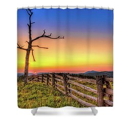 A Gorgeous Blue Ridge Sunrise Shower Curtain
