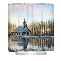 A Kind Heart - Hope Valley Art Shower Curtain