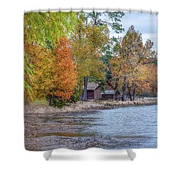 A Peaceful Place On An Autumn Day Shower Curtain