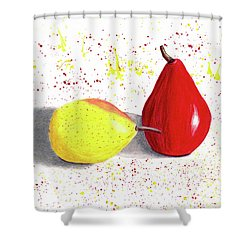 A Pear Of Friends Shower Curtain
