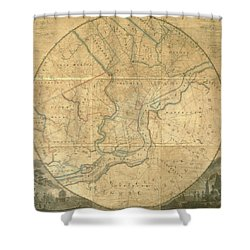 A Plan Of The City Of Philadelphia And Environs, 1808-1811 Shower Curtain