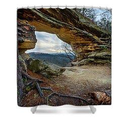 A Portal Through Time Shower Curtain