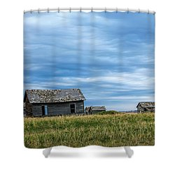 A Sign Of The Times, Run Diown Farm Out Buildings And Barns, Alb Shower Curtain