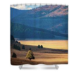 A Slice Of Caldera Shower Curtain