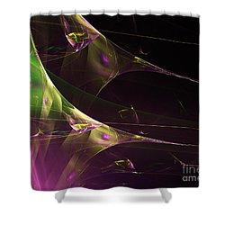 A Space Aurora Shower Curtain