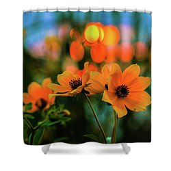 Sunflower Bokeh Sunset Shower Curtain