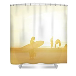 Shower Curtain featuring the photograph A Surf Board by Bruno Rosa