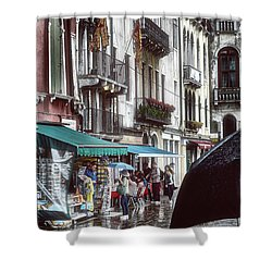 A Typical Venetian Day Shower Curtain