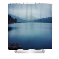 Shower Curtain featuring the photograph A Washed Landscape by Dan Miller