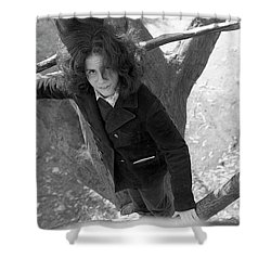 A Woman In A Tree, 1972 Shower Curtain