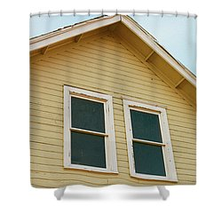 A Yellow House Shower Curtain