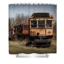 Abandoned Train Shower Curtain