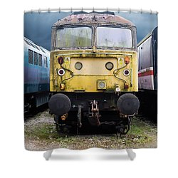 Abandoned Yellow Train Shower Curtain