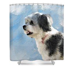 Abby 1 Shower Curtain