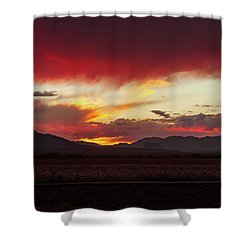 Shower Curtain featuring the photograph Ablaze by Rick Furmanek
