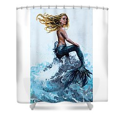 Above A Stormy Sea Shower Curtain