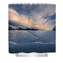 Abraham Lake Ice Wall Shower Curtain
