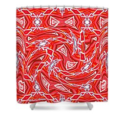 Abstract 1010 Shower Curtain