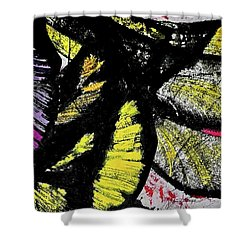 Shower Curtain featuring the painting Metamorphosis by Joan Reese