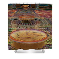 Abstract Architecture Morocco  Shower Curtain