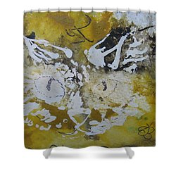 Abstract Cat Face Yellows And Browns Shower Curtain