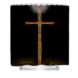 Abstract Cross With Halo Shower Curtain