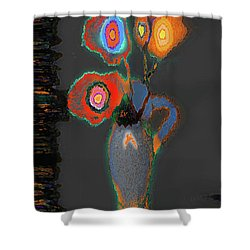 Abstract Floral Art 367 Shower Curtain