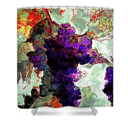 Abstract Grapes Of Splendor 2 Shower Curtain