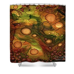 Shower Curtain featuring the painting Abstract Ink 25 by Amy E Fraser