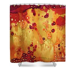 Shower Curtain featuring the painting Abstract Ink 27 by Amy E Fraser
