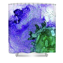 Shower Curtain featuring the painting Abstract Ink 28 by Amy E Fraser