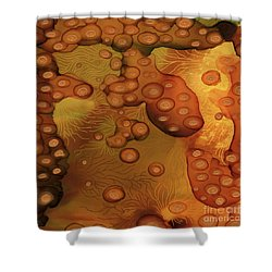 Shower Curtain featuring the painting Abstract Ink 29 by Amy E Fraser