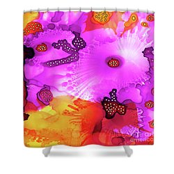 Shower Curtain featuring the painting Abstract Ink 30 by Amy E Fraser