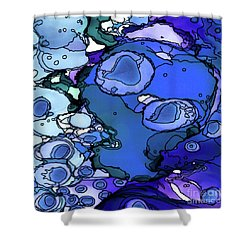 Shower Curtain featuring the painting Abstract Ink 31 by Amy E Fraser