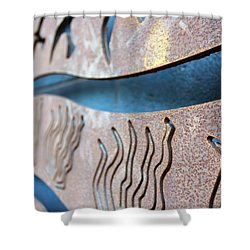 Abstract Lake Patricia Sign 1 Shower Curtain