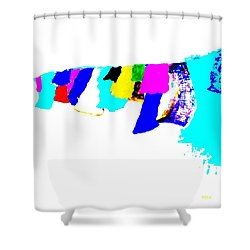 Abstract Prayers Shower Curtain