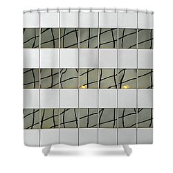 Abstritecture 13 Shower Curtain