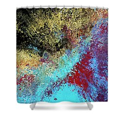 Acts 1 8. Receive Power Shower Curtain