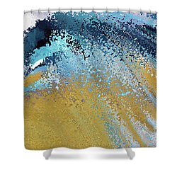Shower Curtain featuring the painting Acts 22 16. Why Are You Waiting by Mark Lawrence