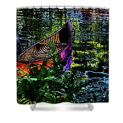Shower Curtain featuring the photograph Adirondack Guide Boat by David Patterson